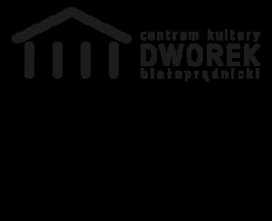 Zamieszczone są dwa logotypy. Na górze Centrum Kultury Dworek Białoprądnicki. Na dole logo miasta Krakowa.