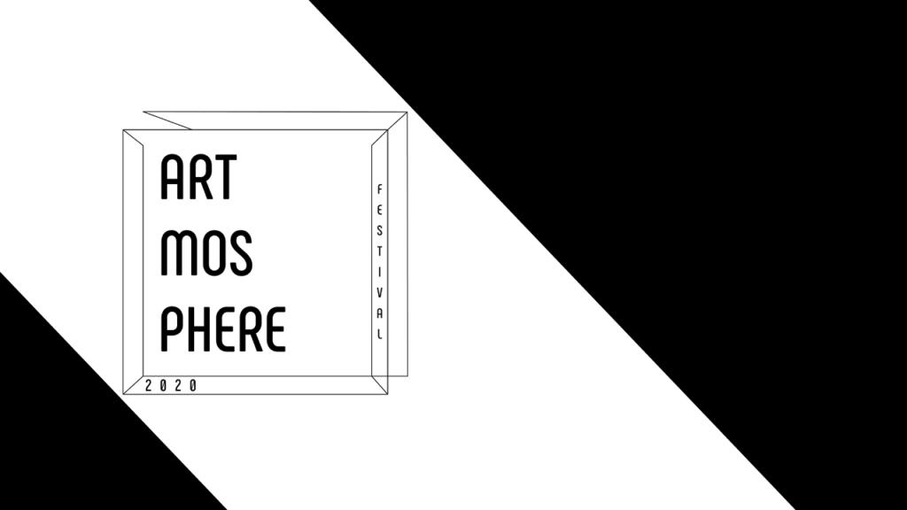Czarno-biały logotyp Festiwalu Artmosphere 2020