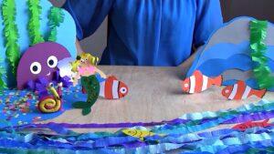 Papierowy teatrzyk o tematyce morskiej
