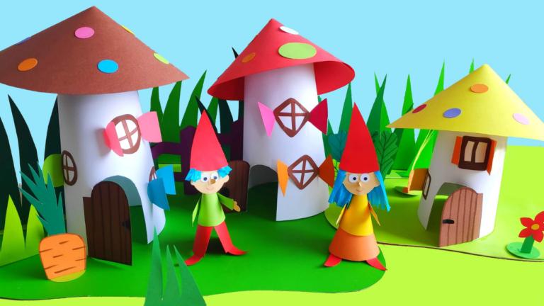 Papierowy teatrzyk dla dzieci z krasnalami