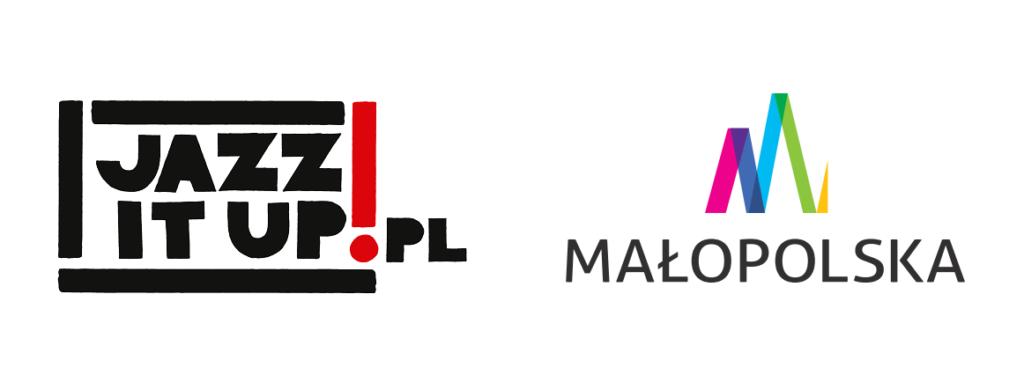 Logotypy jazz it up i małopolska
